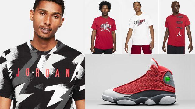 jordan-13-red-flint-matching-shirts