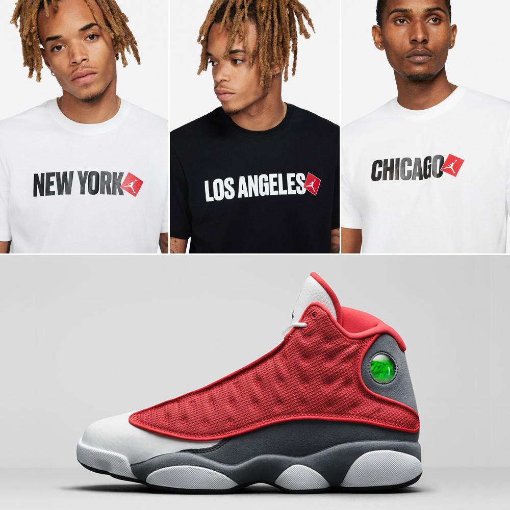 jordan-13-red-flint-shirts