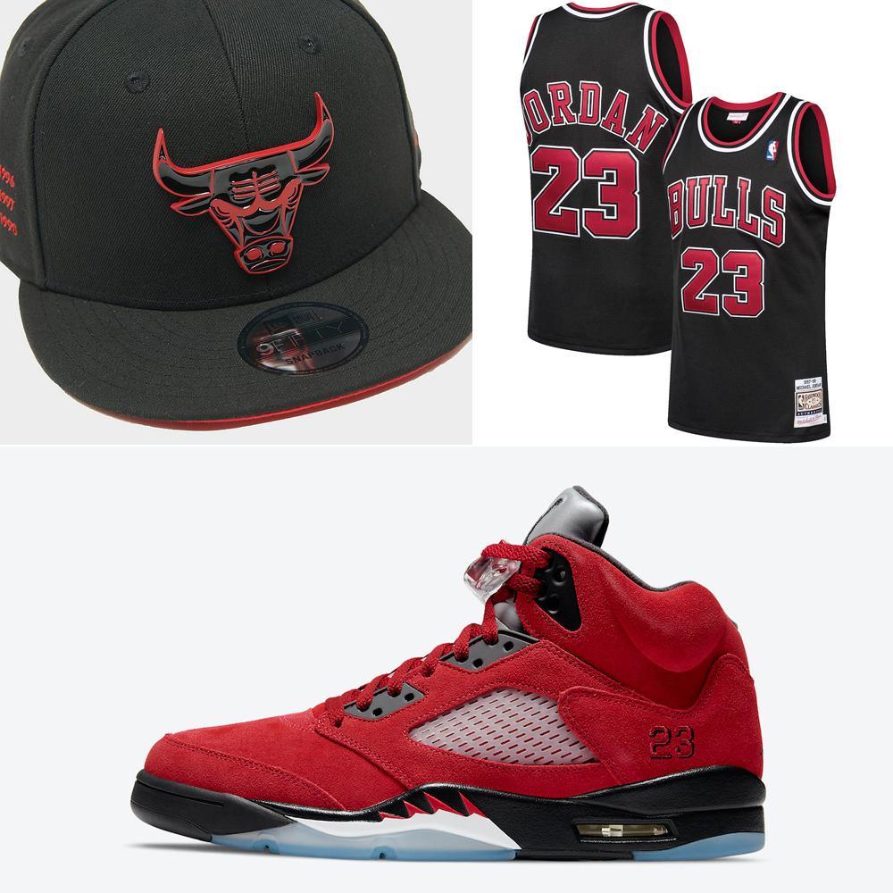 jordan-5-raging-bull-toro-bravo-bulls-hat-clothing