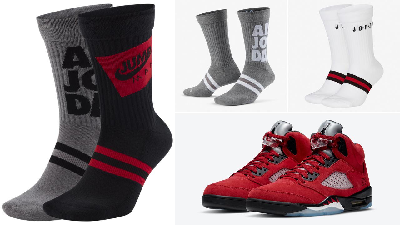 jordan-5-toro-bravo-raging-bull-socks