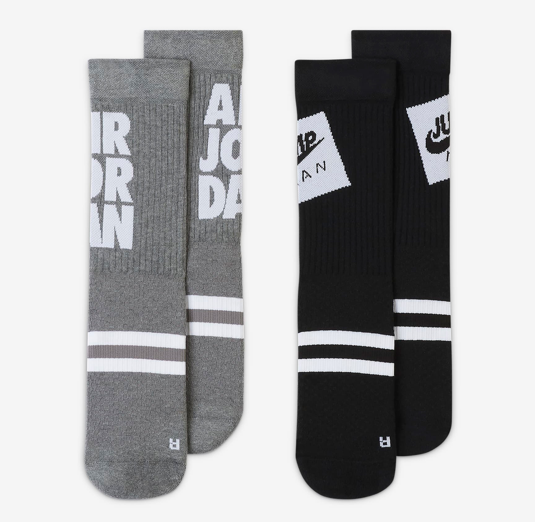 jordan-legacy-jumpman-classics-socks-grey-black-2-pack