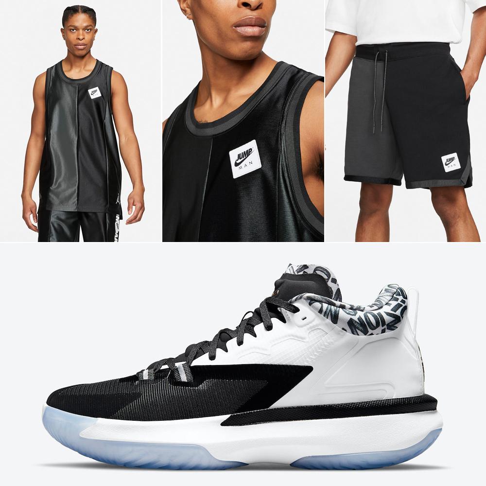 jordan-zion-1-black-white-jersey-shorts-match