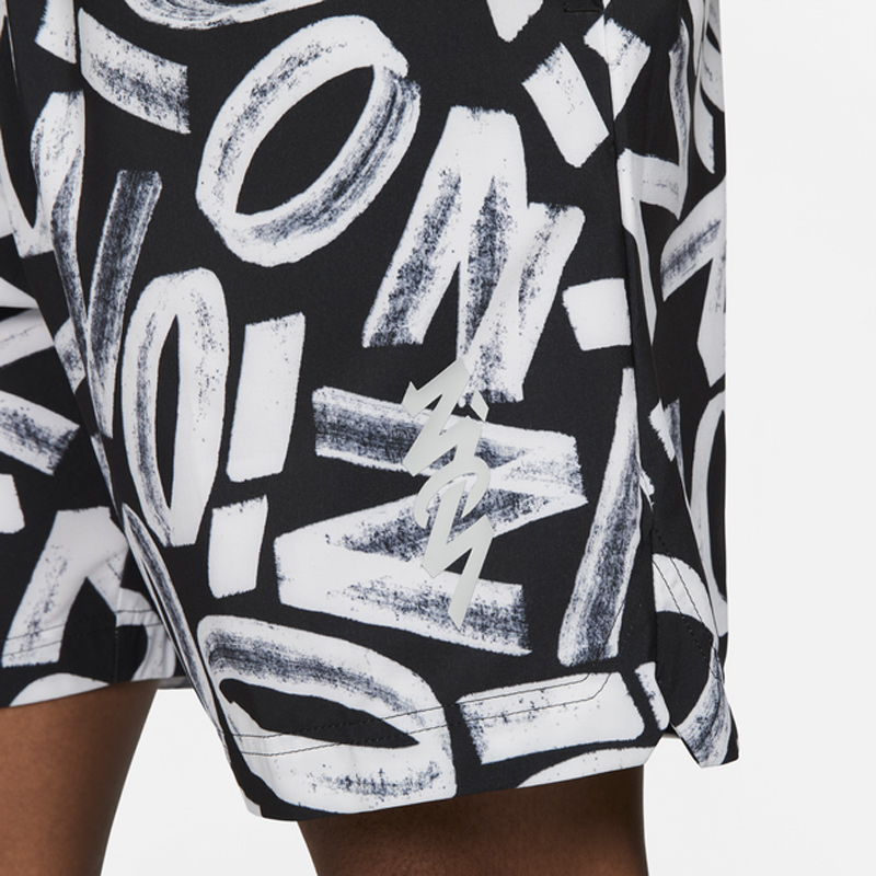 jordan-zion-black-white-shorts-2