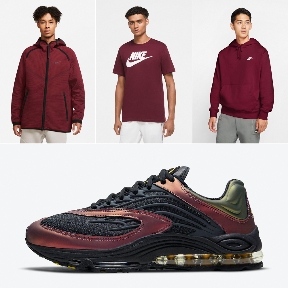 nike-air-tuned-max-celery-dark-charcoal-saturn-red-shirts-outfits