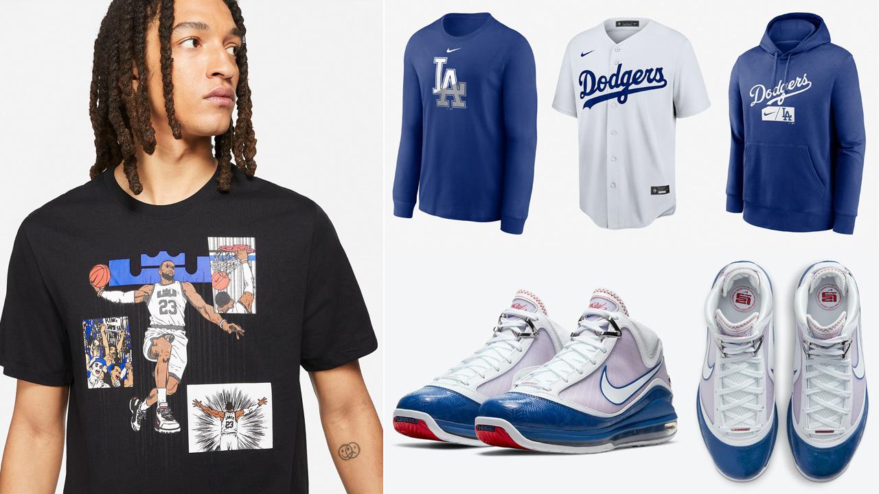 nike-lebron-7-dodgers-baseball-blue-outfits