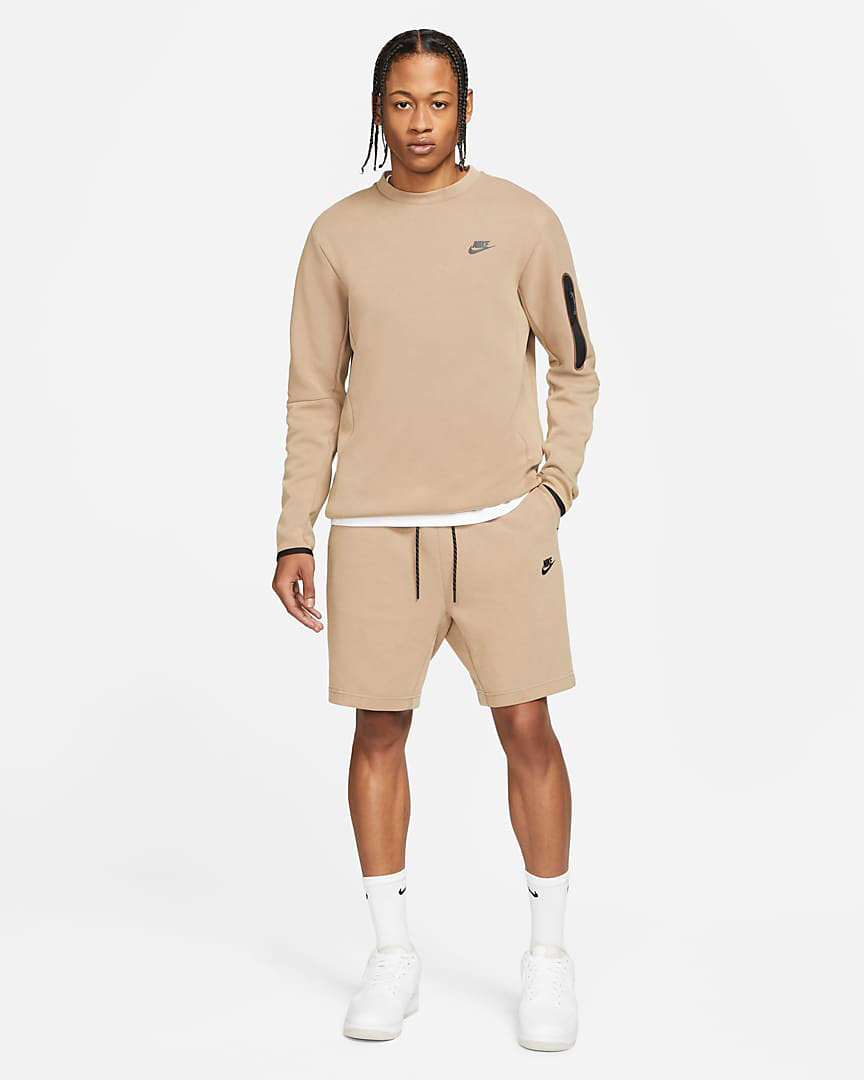 nike-taupe-haze-tech-fleece-sweatshirt-and-shorts