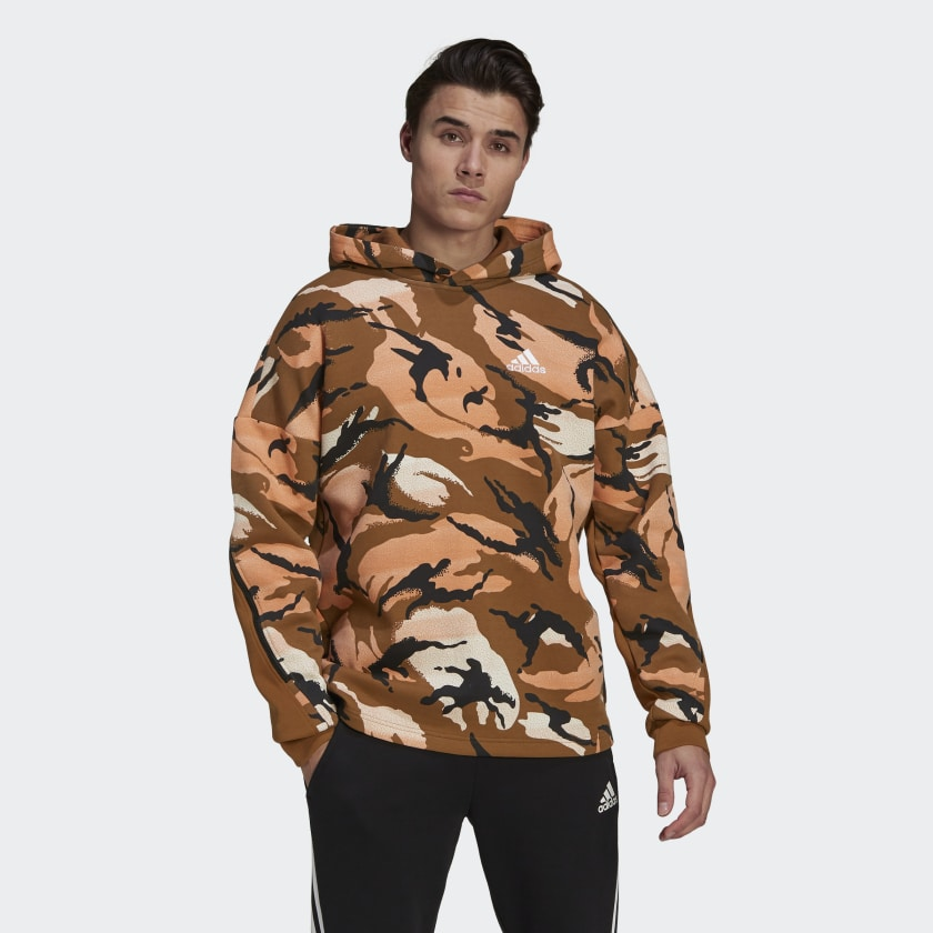 adidas Sportswear Desert Camouflage Allover Print Hoodie Multicolor GQ2911 21 model