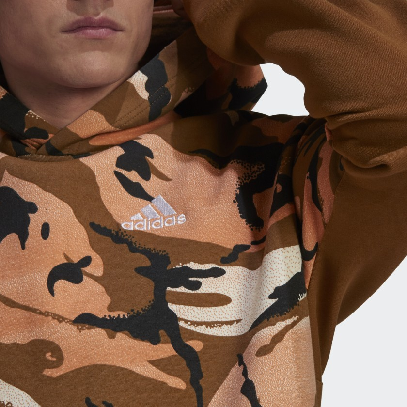 adidas Sportswear Desert Camouflage Allover Print Hoodie Multicolor GQ2911 42 detail