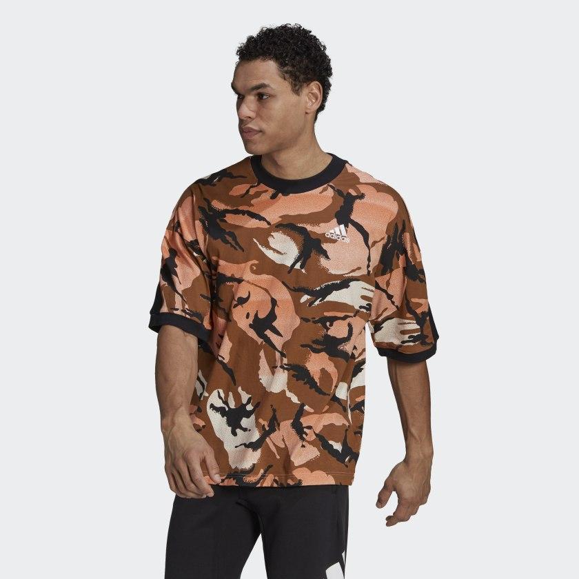 adidas Sportswear Desert Camouflage Allover Print Tee Multicolor GP8657 21 model