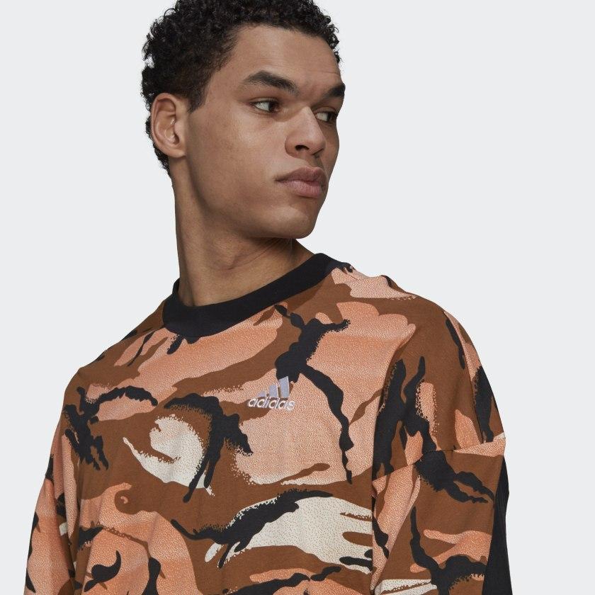 adidas Sportswear Desert Camouflage Allover Print Tee Multicolor GP8657 42 detail