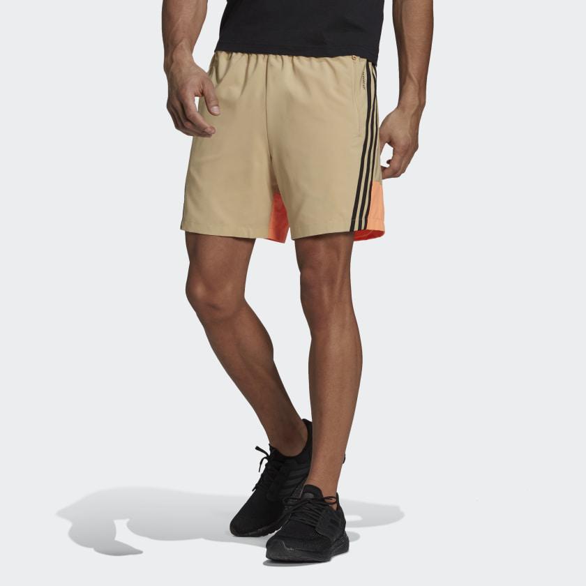 adidas Sportswear Woven 3 Stripes Shorts Beige GM6493 21 model