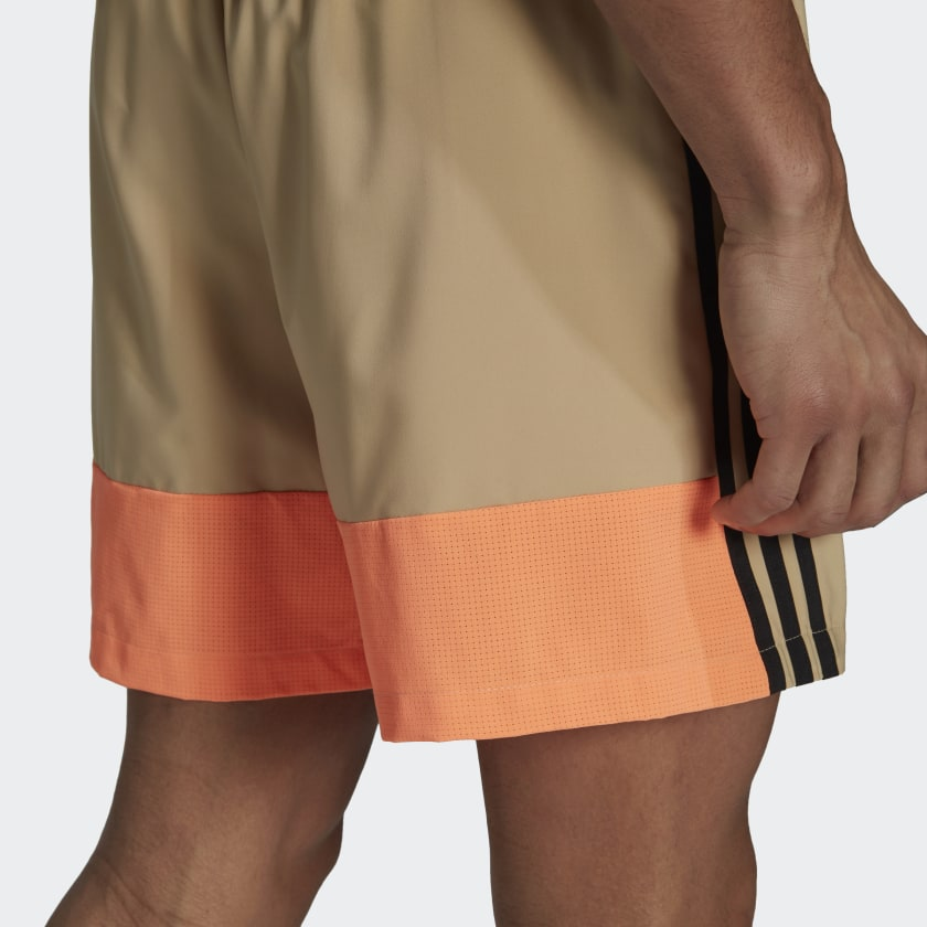 adidas Sportswear Woven 3 Stripes Shorts Beige GM6493 41 detail
