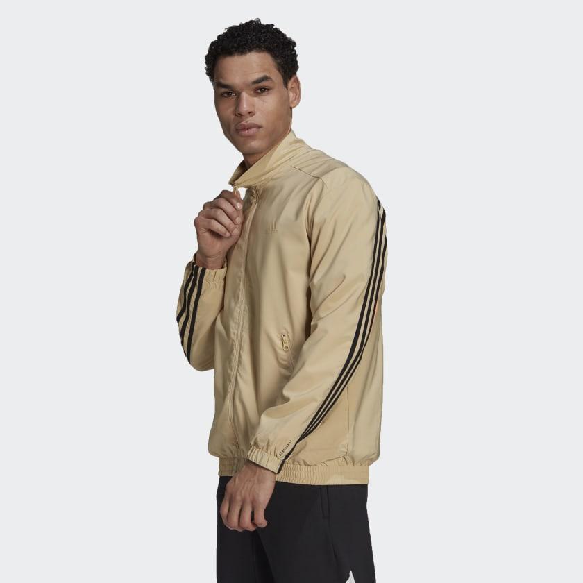 adidas Sportswear Woven 3 Stripes Track Top Beige GP2648 21 model