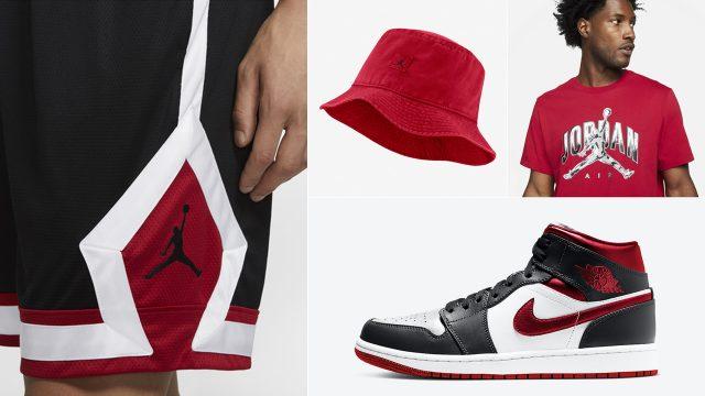 air-jordan-1-mid-metallic-red-shirt-hat-clothing-outfits