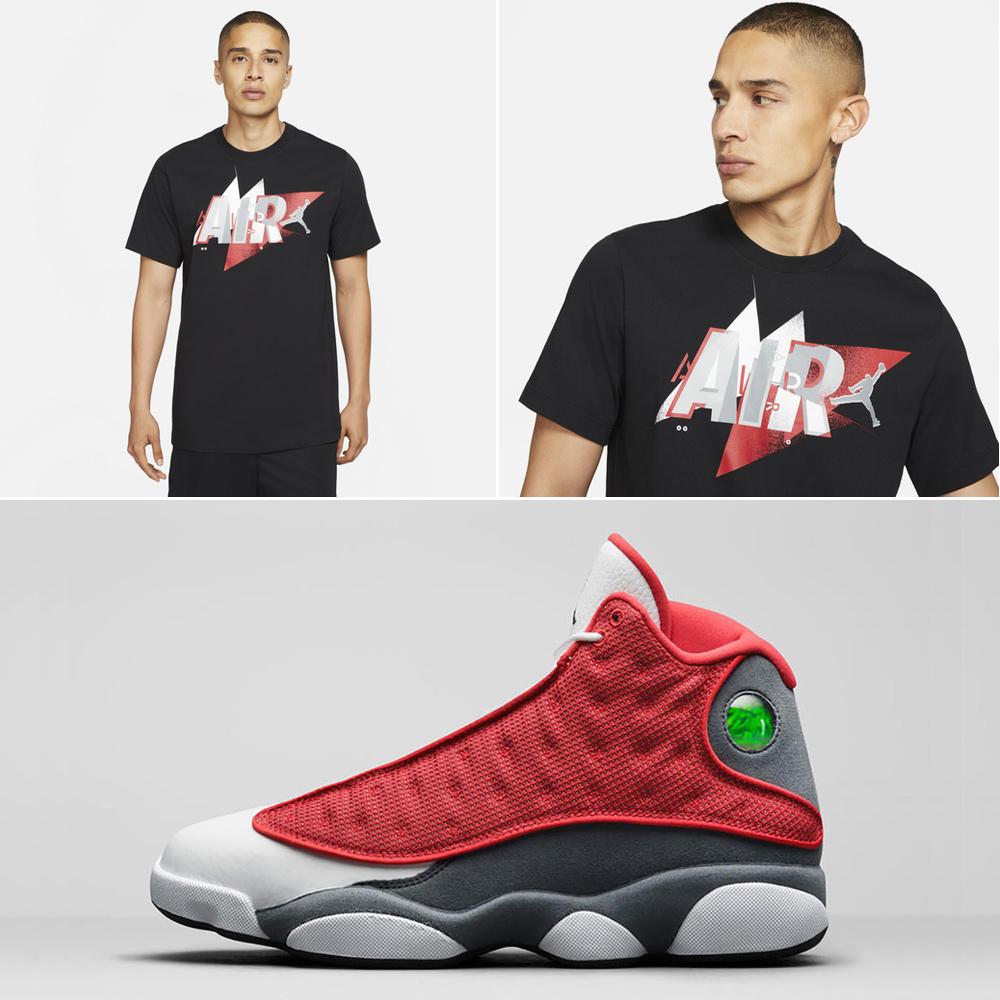 air-jordan-13-red-flint-matching-shirt