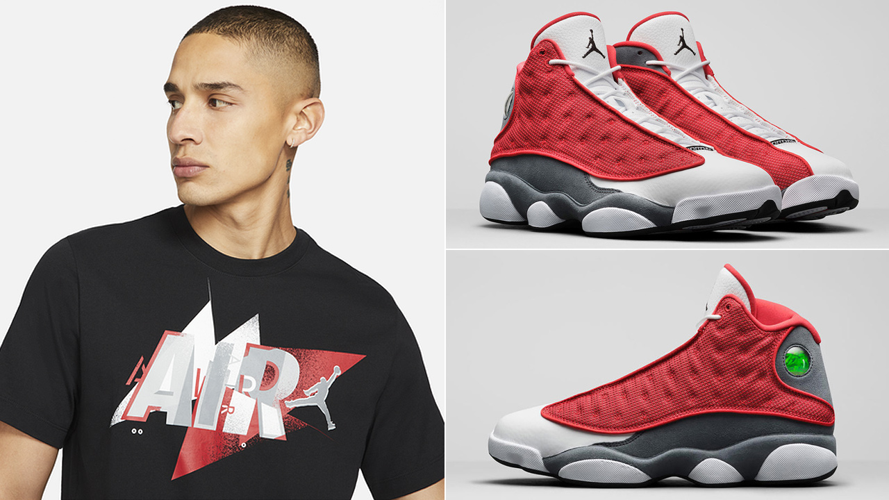 air-jordan-13-red-flint-t-shirt