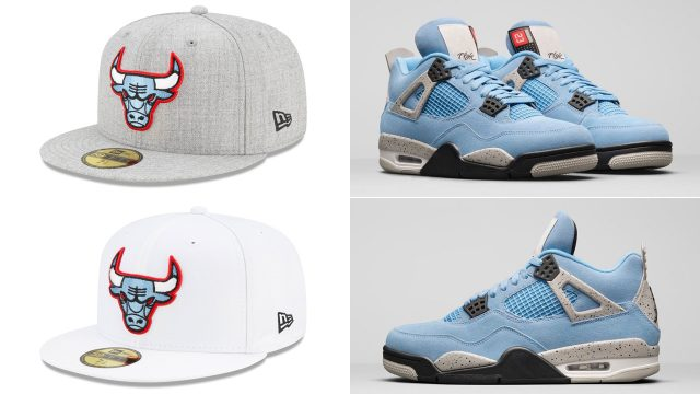air-jordan-4-university-blue-bulls-fitted-hats