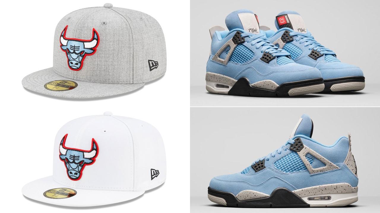 air-jordan-4-university-blue-bulls-fitted-hats