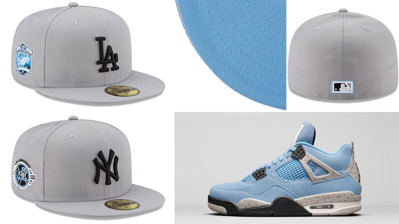 air-jordan-4-university-blue-new-era-mlb-fitted-caps