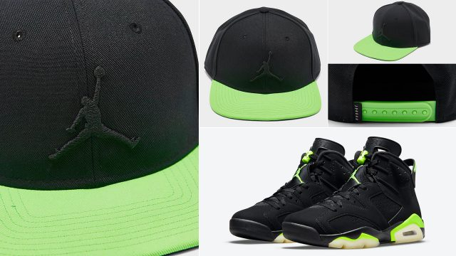 air-jordan-6-black-electric-green-cap