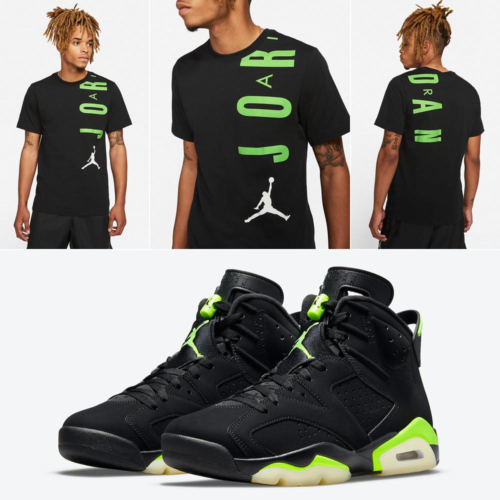 air-jordan-6-black-electric-green-shirt