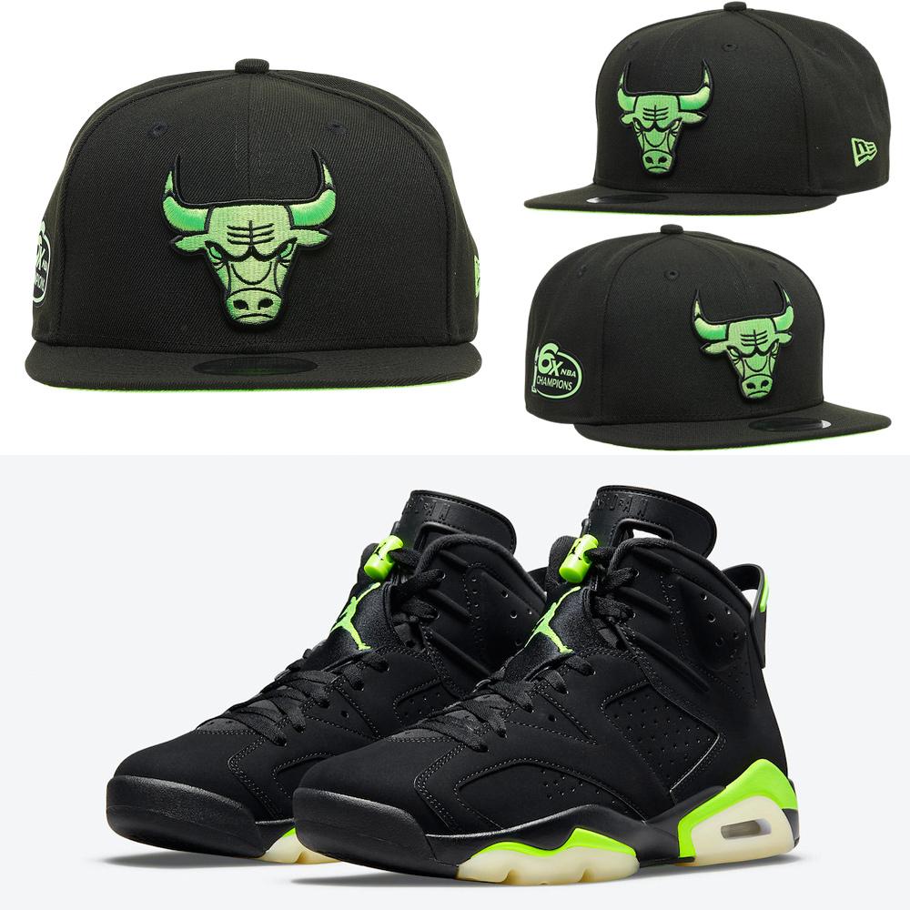 air-jordan-6-electric-green-bulls-hat