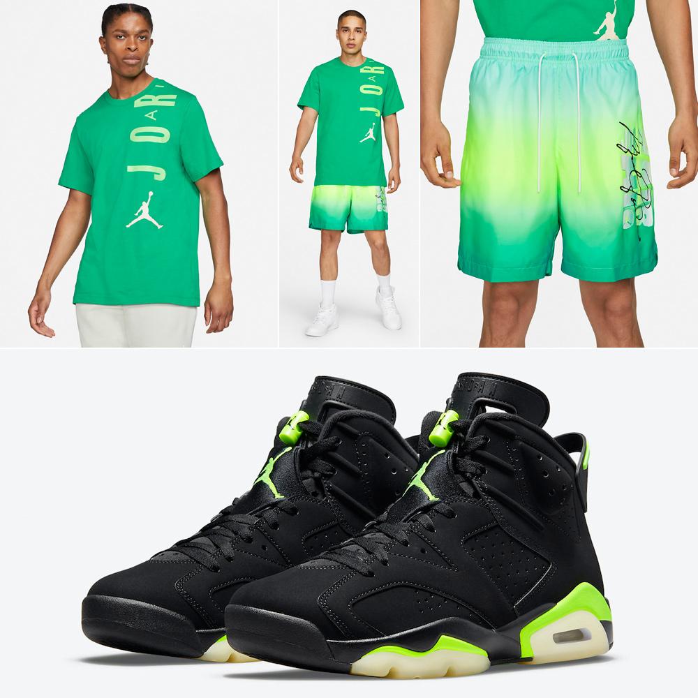 air-jordan-6-electric-green-shirt-shorts-outfit