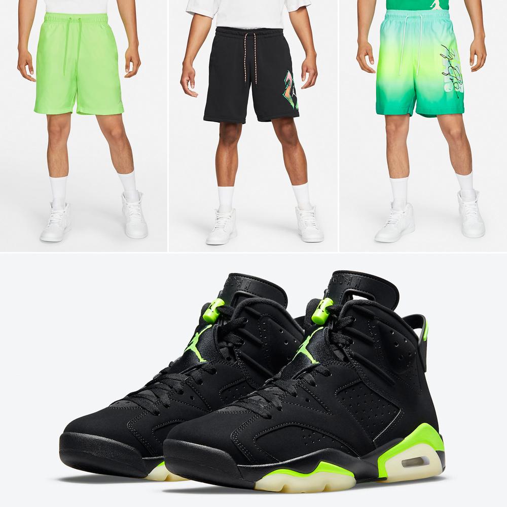 air-jordan-6-electric-green-shorts