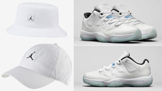 jordan-11-low-legend-blue-jumpman-hats