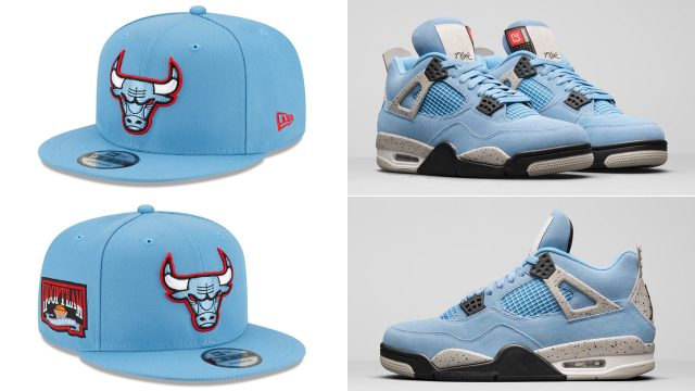 jordan-4-university-blue-bulls-new-era-cap-match