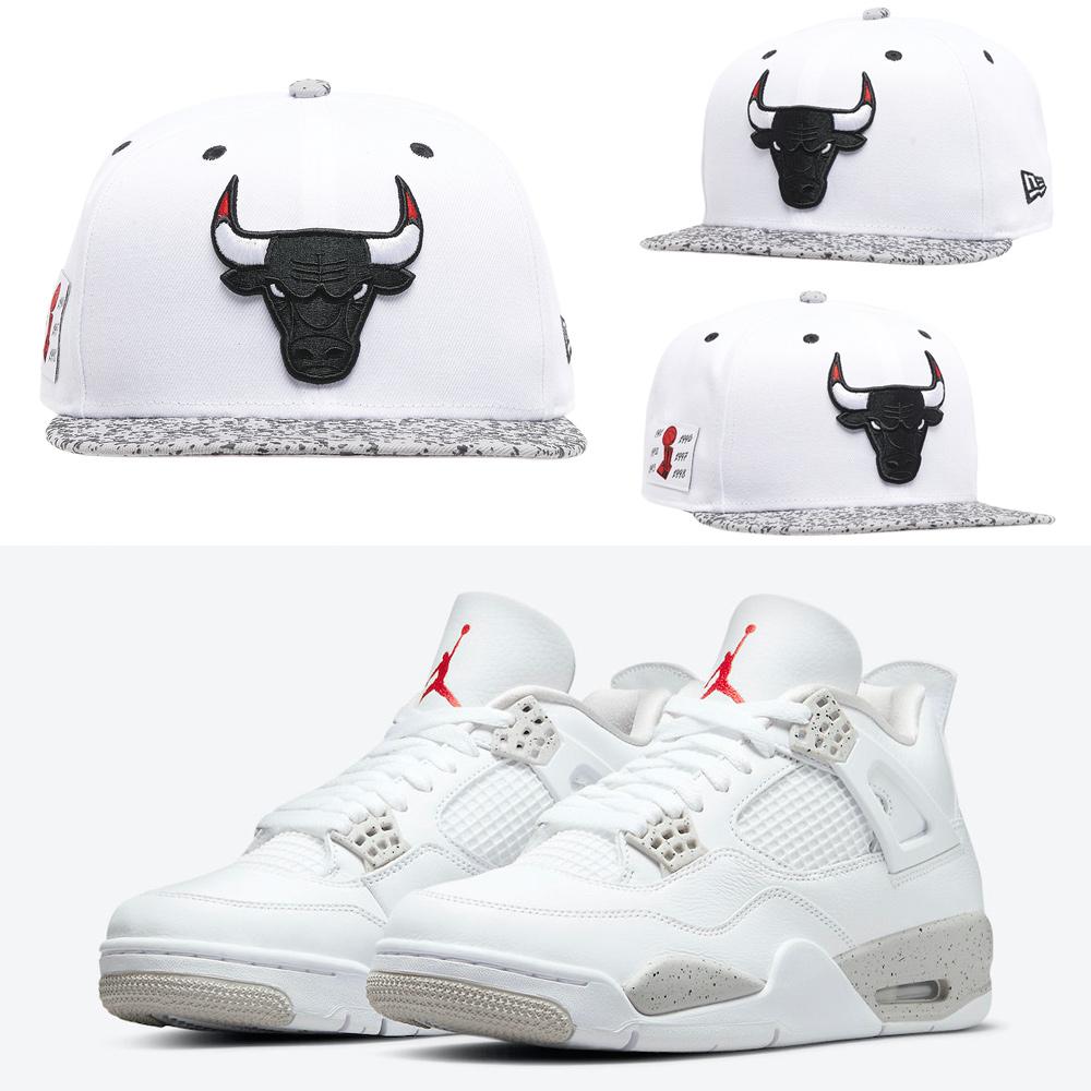 jordan-4-white-oreo-new-era-bulls-hat