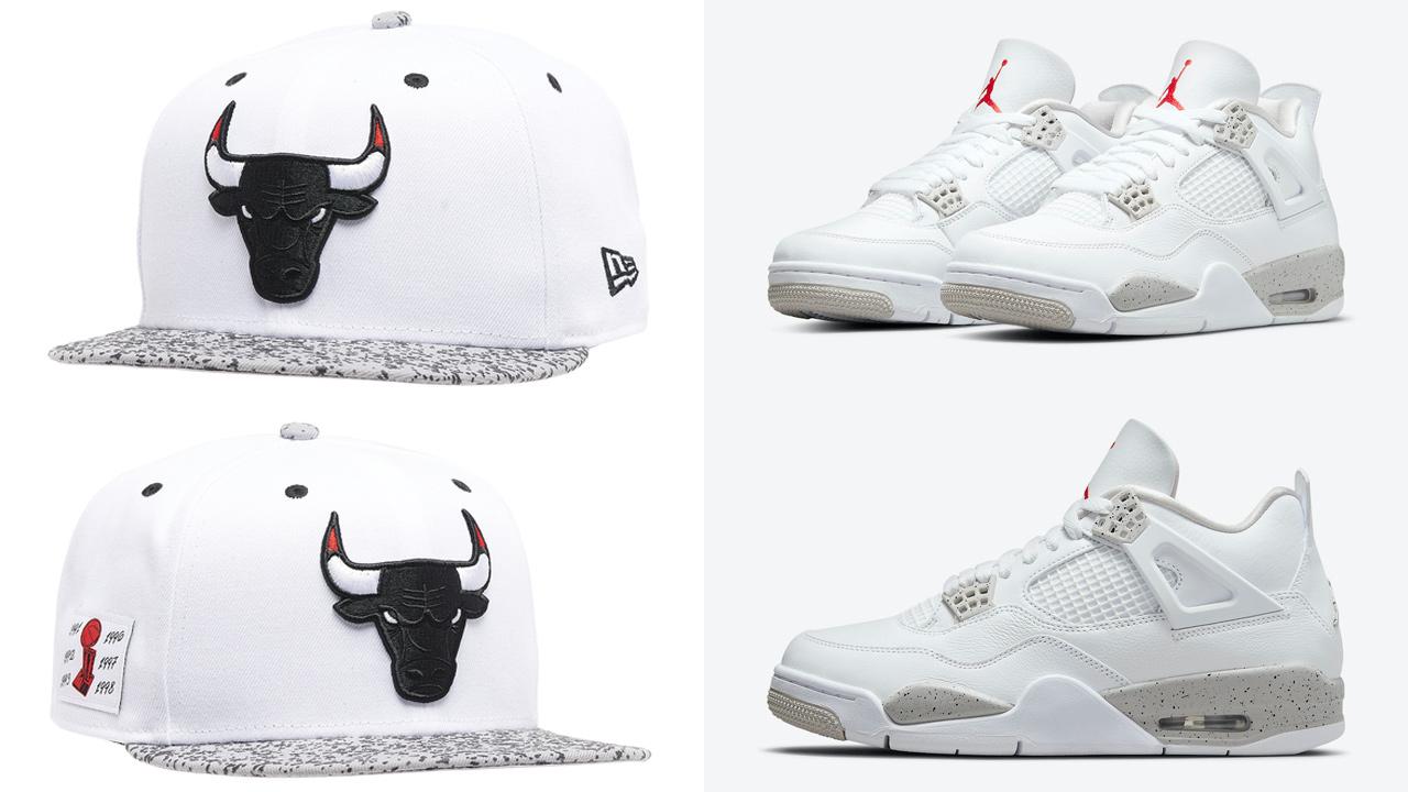 jordan-4-white-oreo-tech-grey-bulls-hat