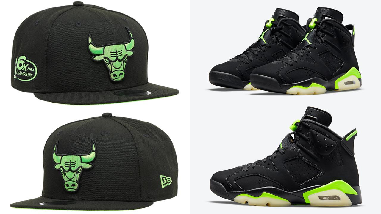 jordan-6-electric-green-bulls-new-era-hat