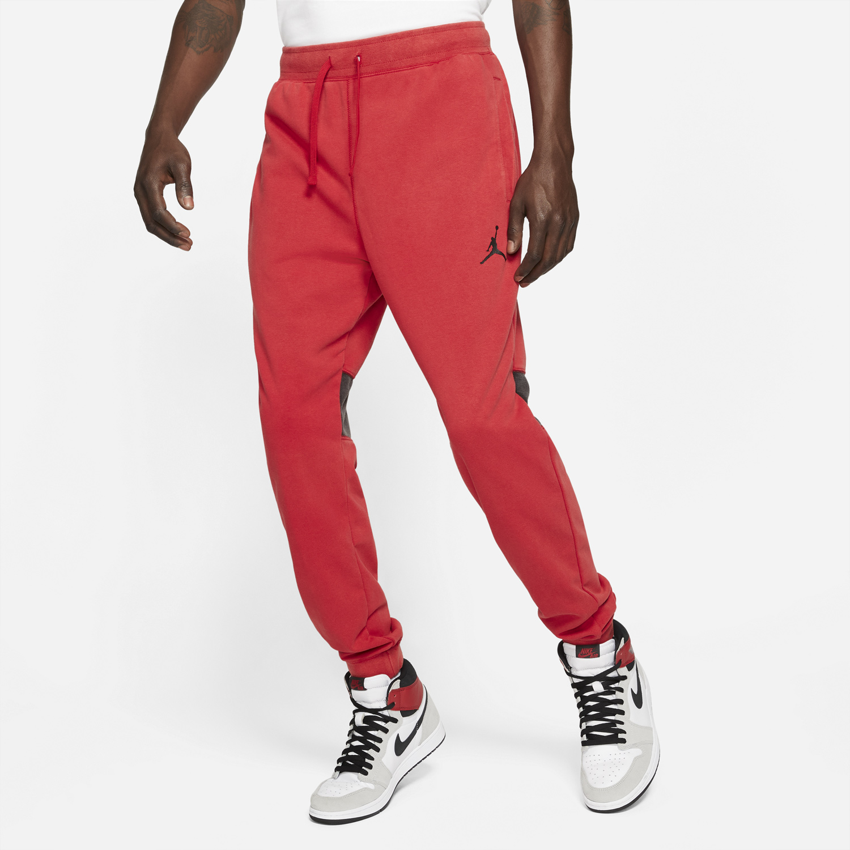 jordan-dri-fit-air-fleece-pants-gym-red-black-1