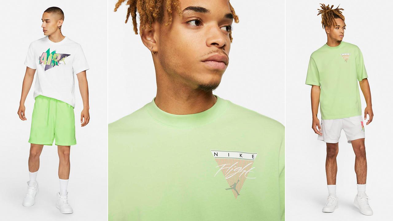 jordan-ghost-green-sneaker-clothing-shirts-outfits