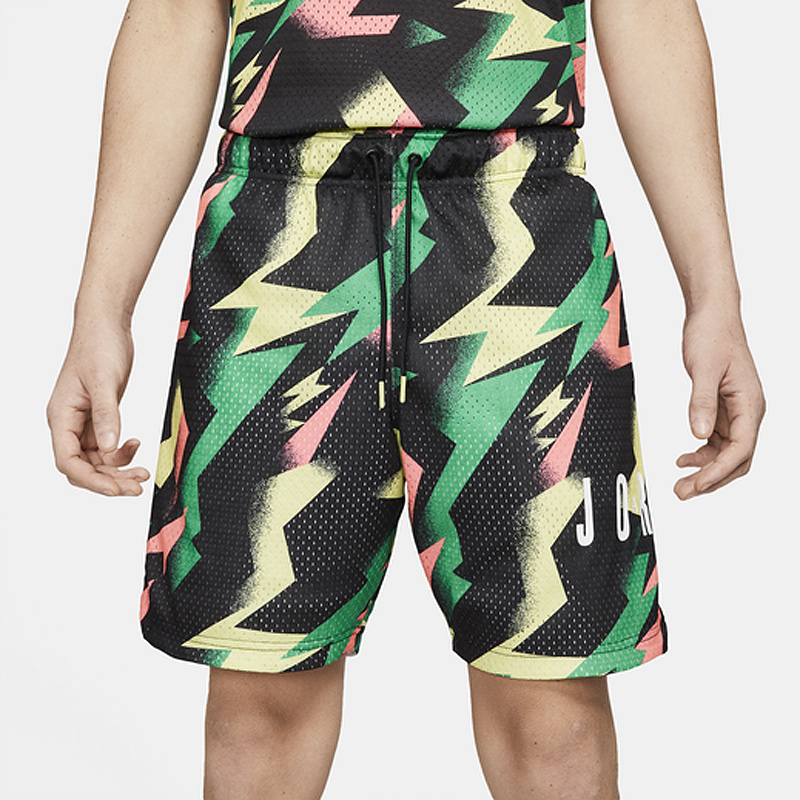 jordan-jumpman-air-printed-shorts-black-green-pink-yellow-1