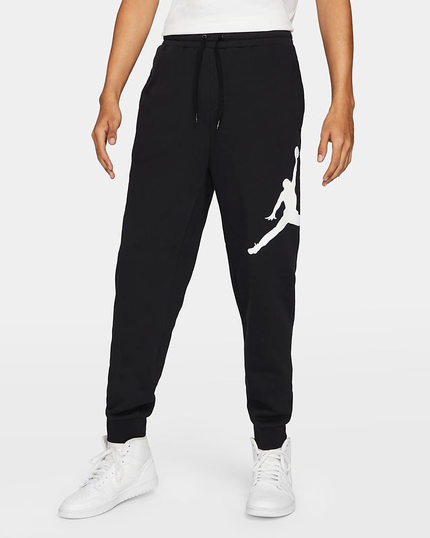 jordan-jumpman-logo-fleece-pants-black-white-1