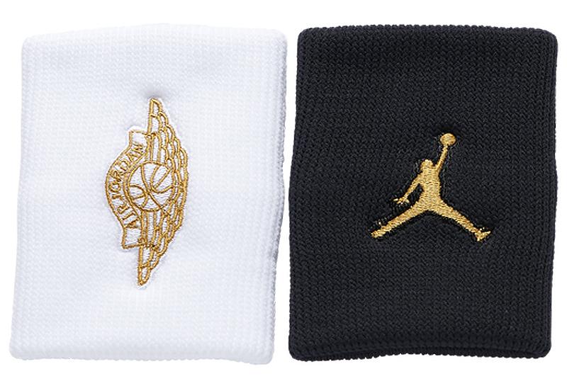 jordan-wristbands-black-white-gold