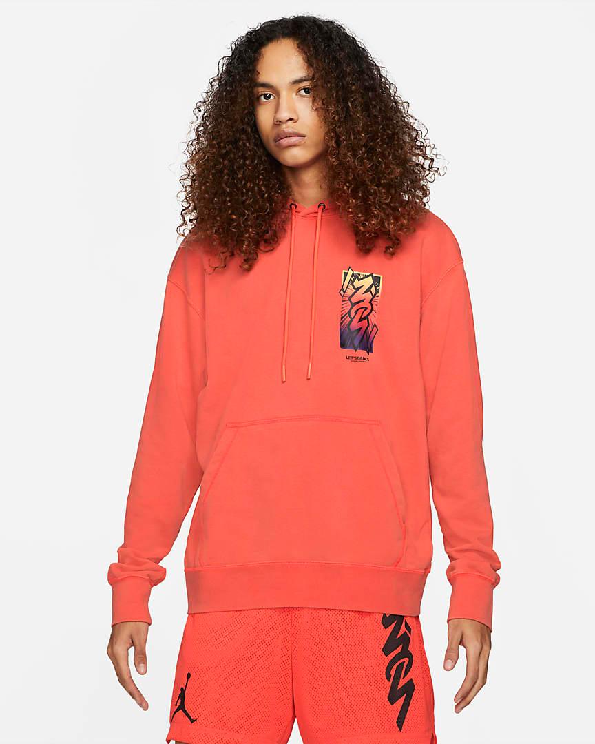 jordan-zion-1-zna-bright-crimson-hoodie-1
