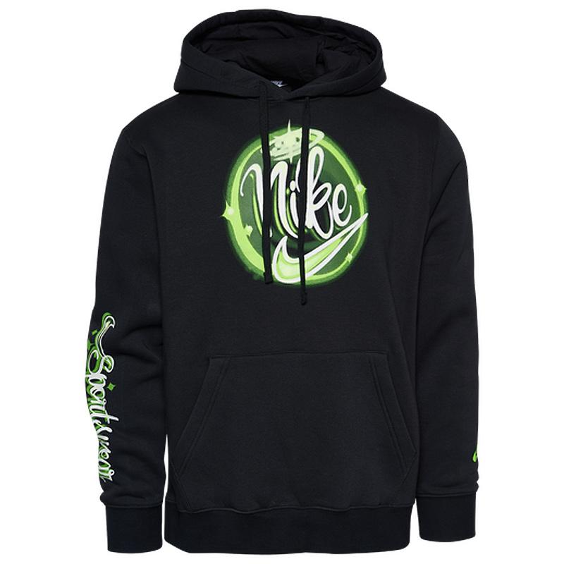 nike-air-brush-hoodie-black-green-1