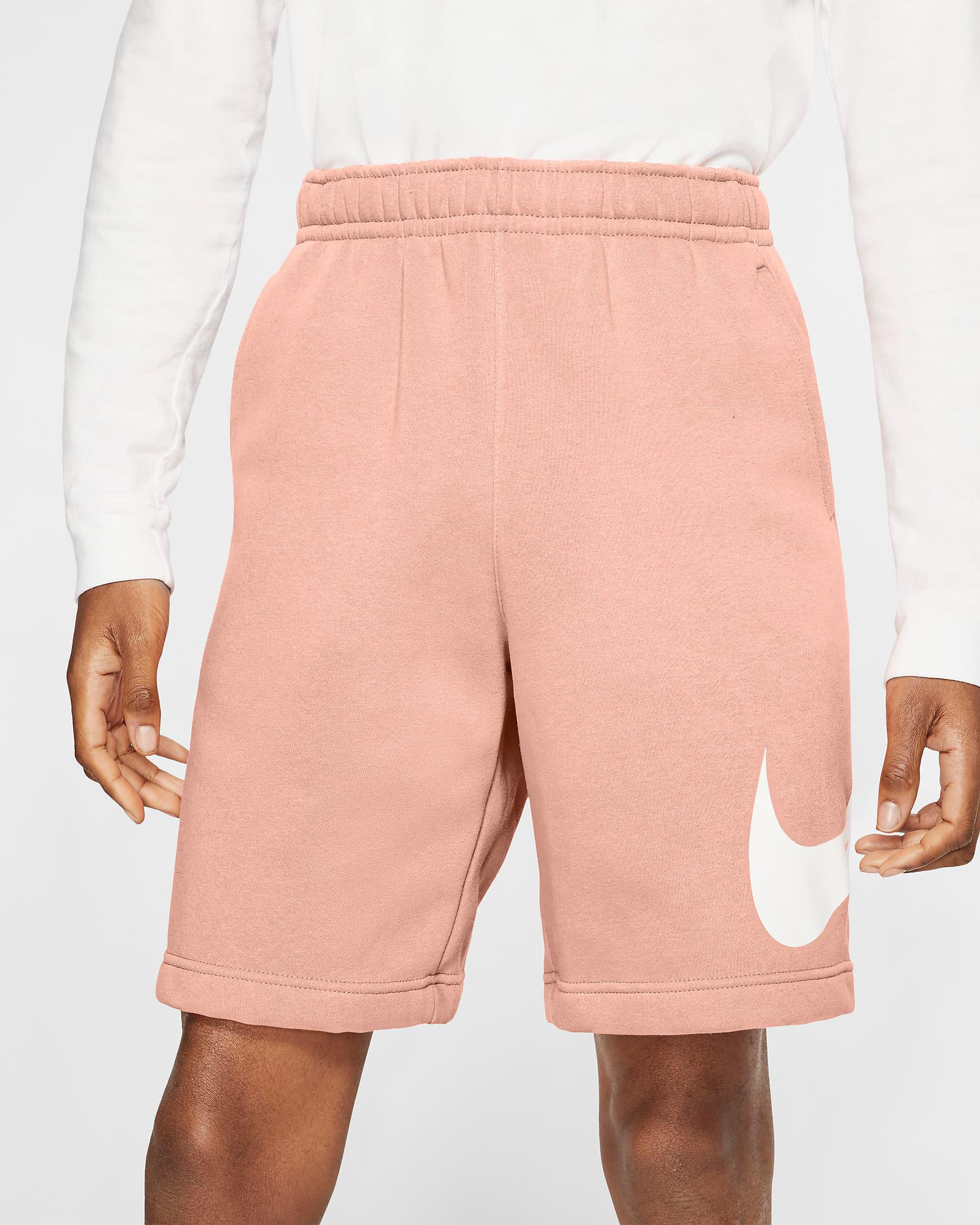 nike-arctic-orange-club-fleece-shorts