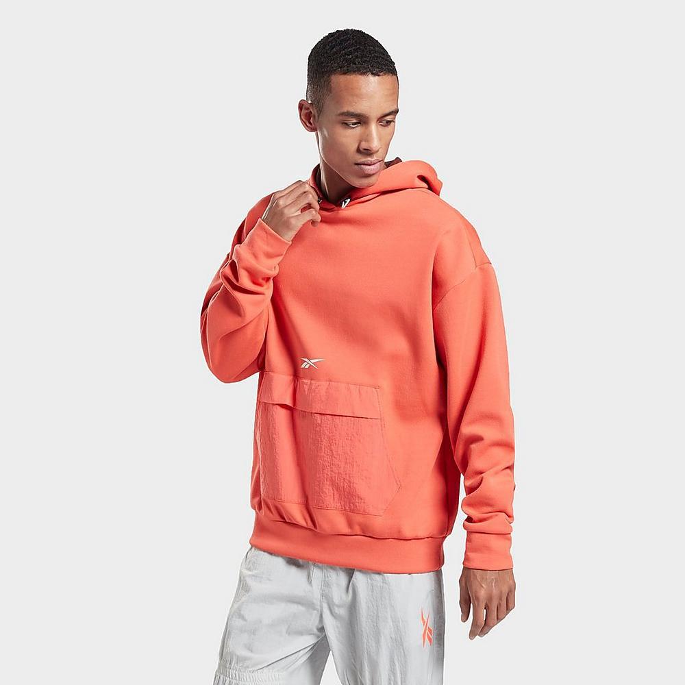 reebok-classics-orange-hoodie