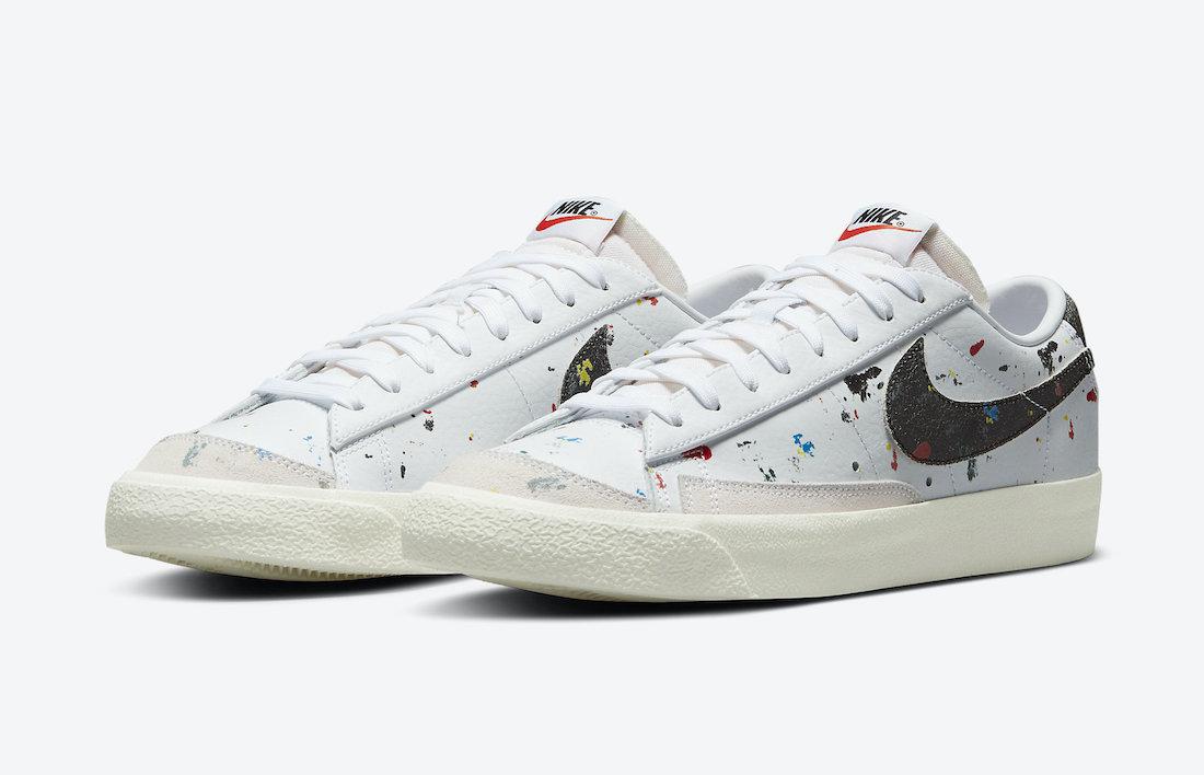 Nike Blazer Low Paint Splatter DJ1517 100 Release Date 1