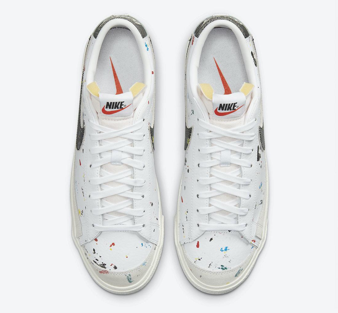 Nike Blazer Low Paint Splatter DJ1517 100 Release Date 2