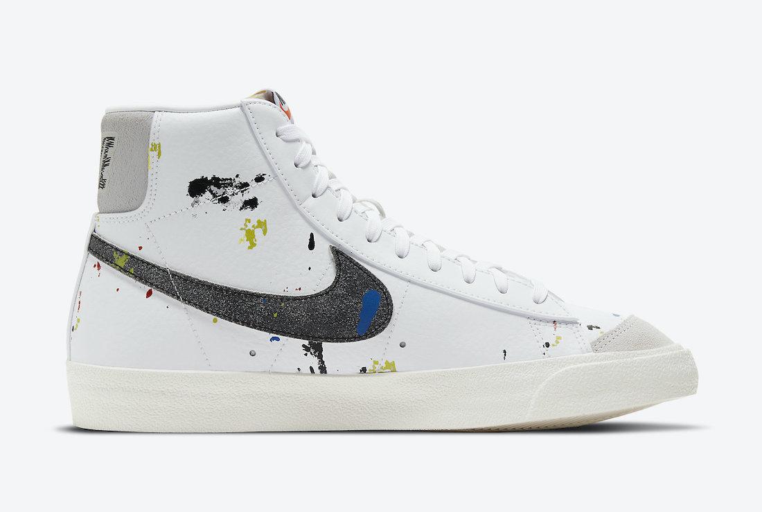 Nike Blazer Mid Paint Splatter DC7331 100 Release Date 3