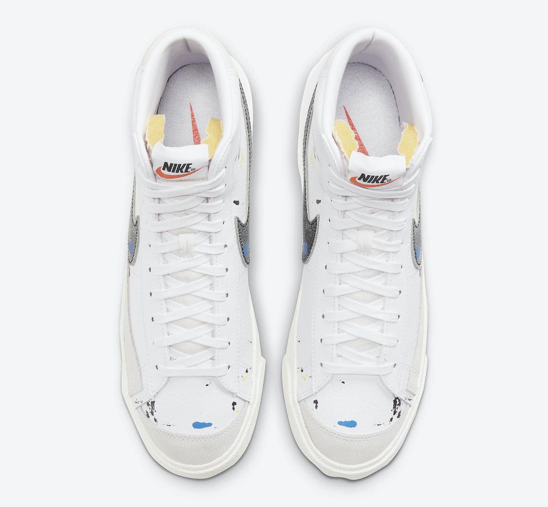 Nike Blazer Mid Paint Splatter DC7331 100 Release Date 4