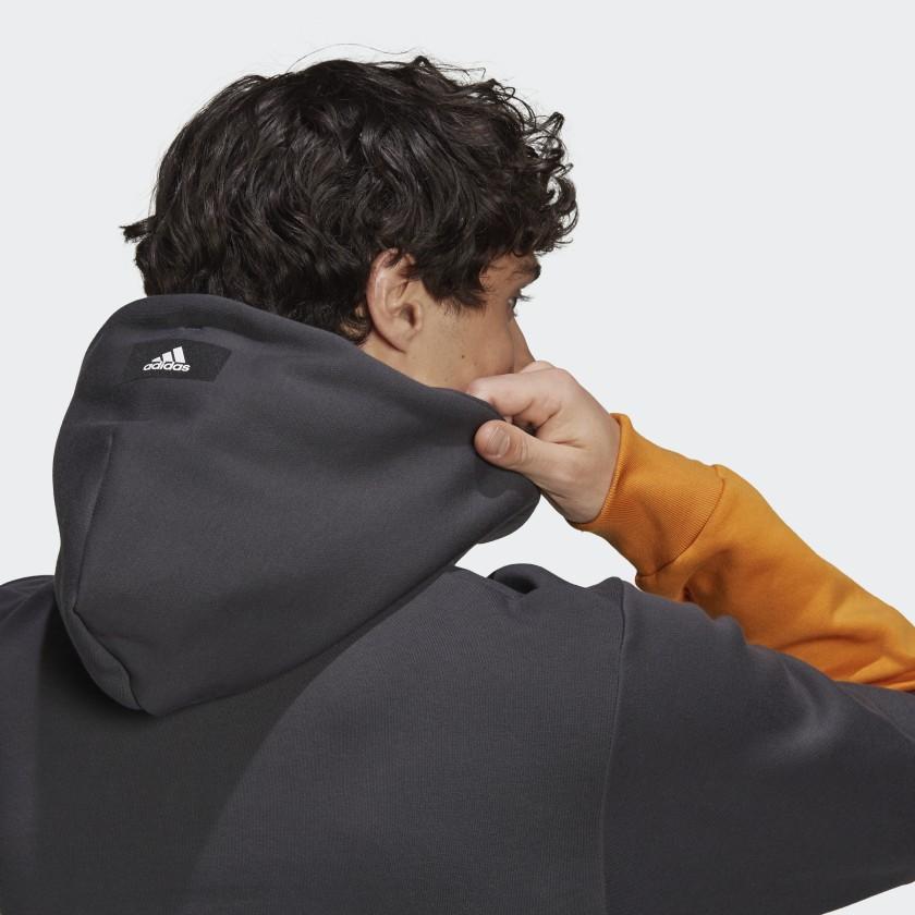 adidas Sportswear Colorblock Hoodie Grey H39767 42 detail