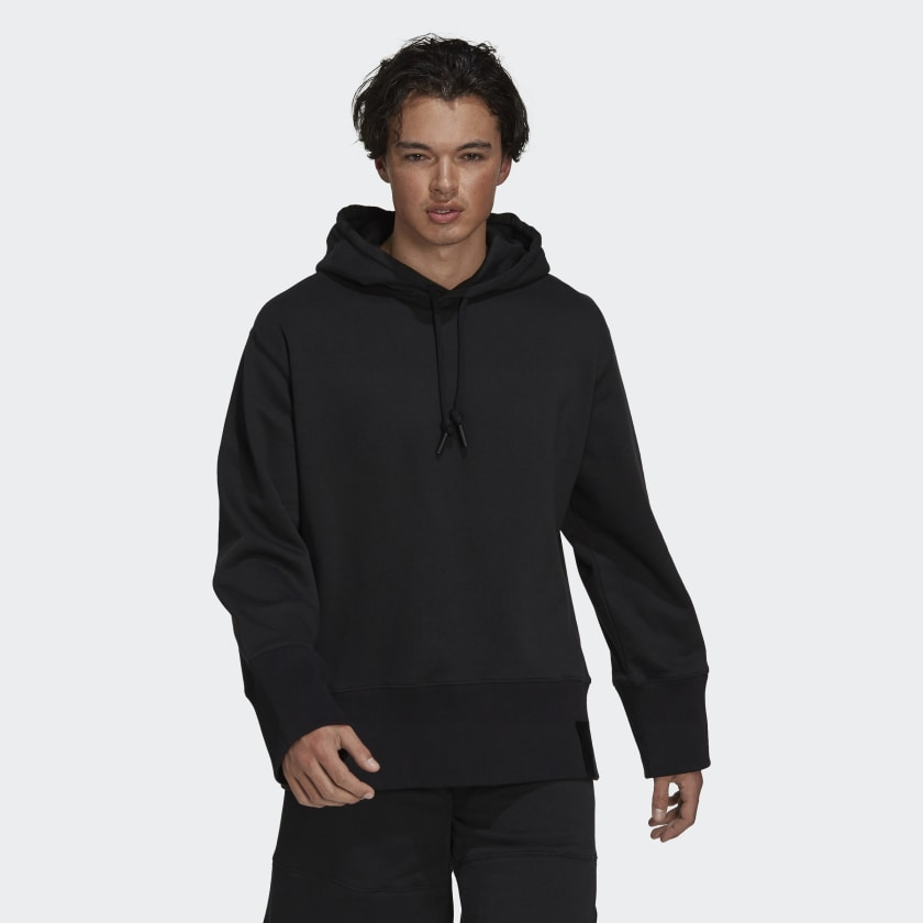 adidas Sportswear Comfy and Chill Fleece Hoodie Black H45382 21 model