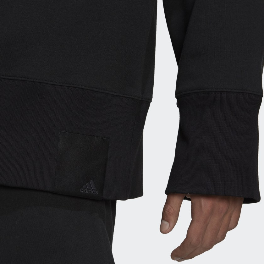 adidas Sportswear Comfy and Chill Fleece Hoodie Black H45382 42 detail