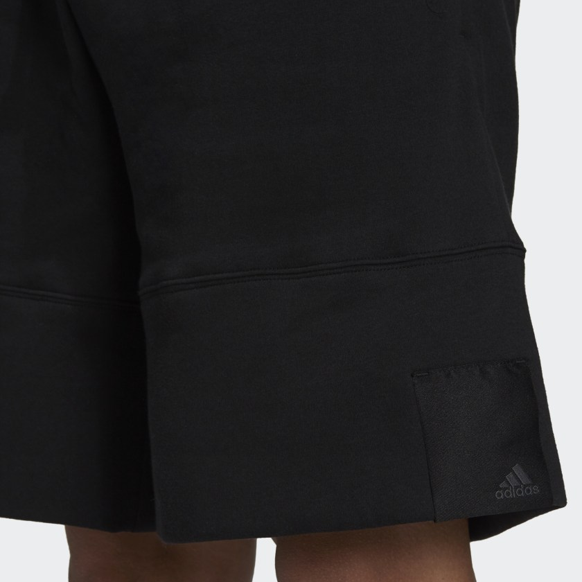 adidas Sportswear Comfy and Chill Fleece Shorts Black H45380 41 detail